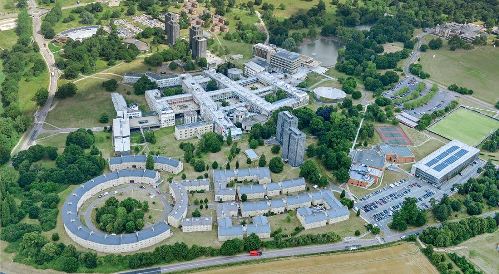 University of Essex at a bird's eye view